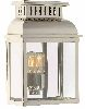 Elstead WESTMINSTER PN Polished Nickel Garden Wall Lantern